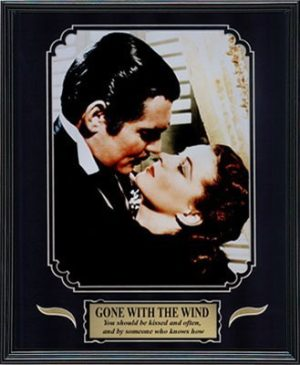 Gone with the Wind Clark Gable and Vivien Leigh Framed Movie Photo in the Black Modern Real Wood Frame 12 x 15